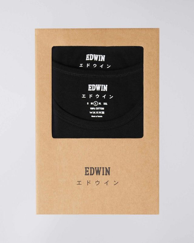 DOUBLE PACK SS TEE - BLACK
